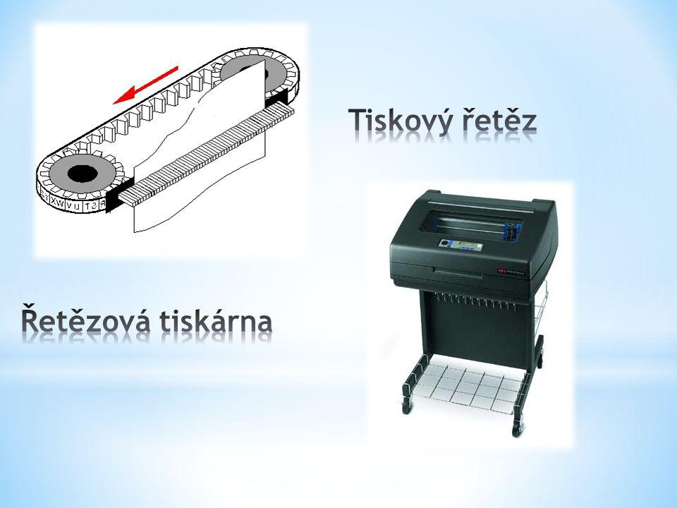 Tiskový řetěz Řetězová tiskárna