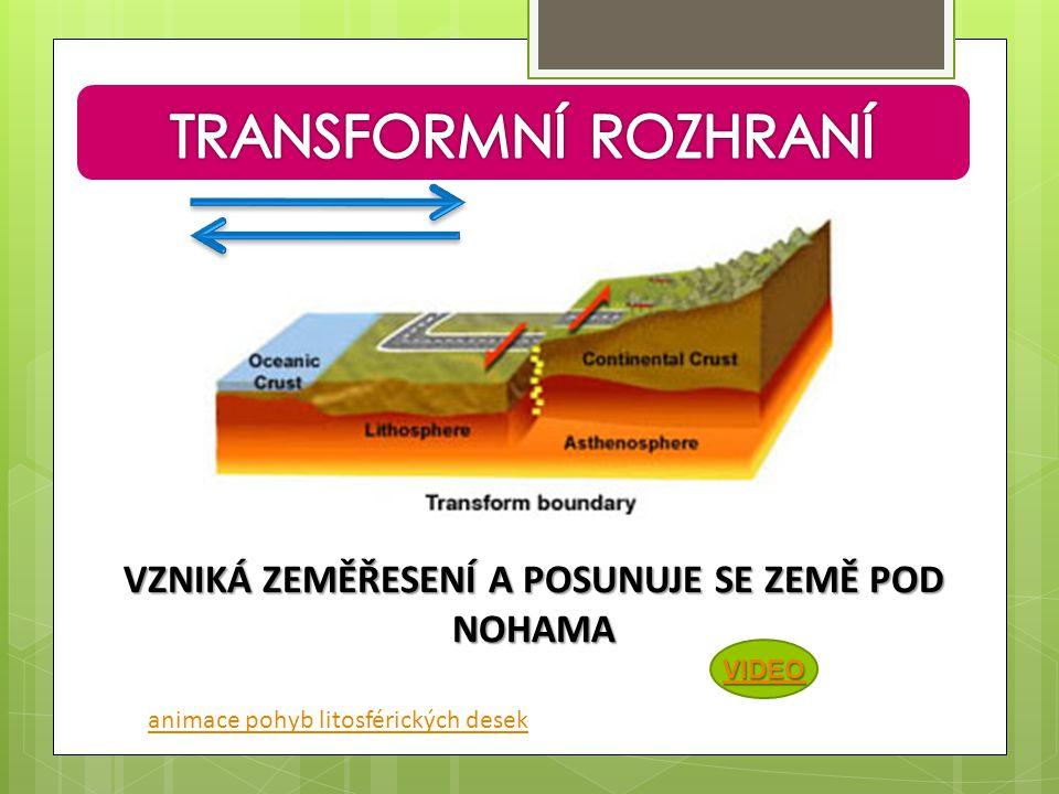 VZNIKÁ ZEMĚŘESENÍ A POSUNUJE SE ZEMĚ POD NOHAMA