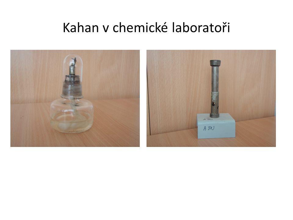 Kahan v chemické laboratoři