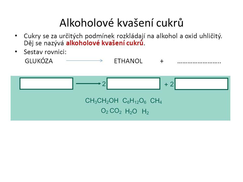 Alkoholové kvašení cukrů