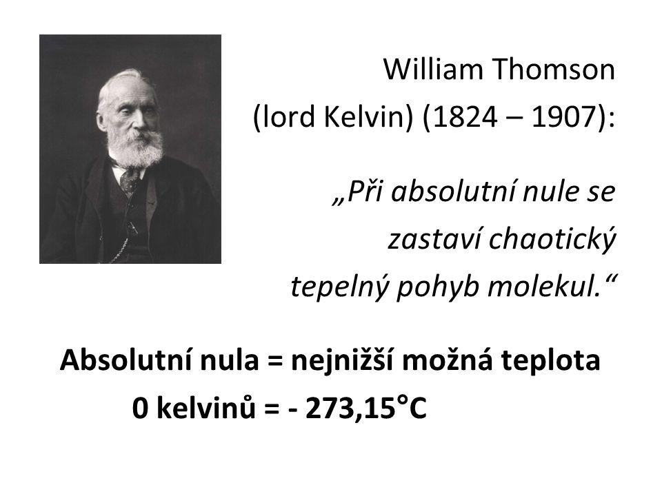Absolutní nula = nejnižší možná teplota