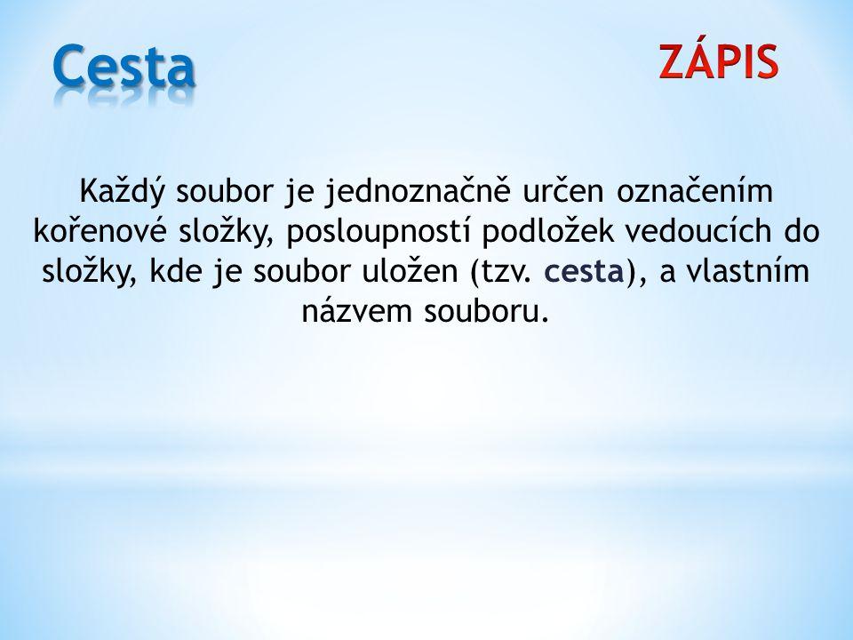 Cesta ZÁPIS.