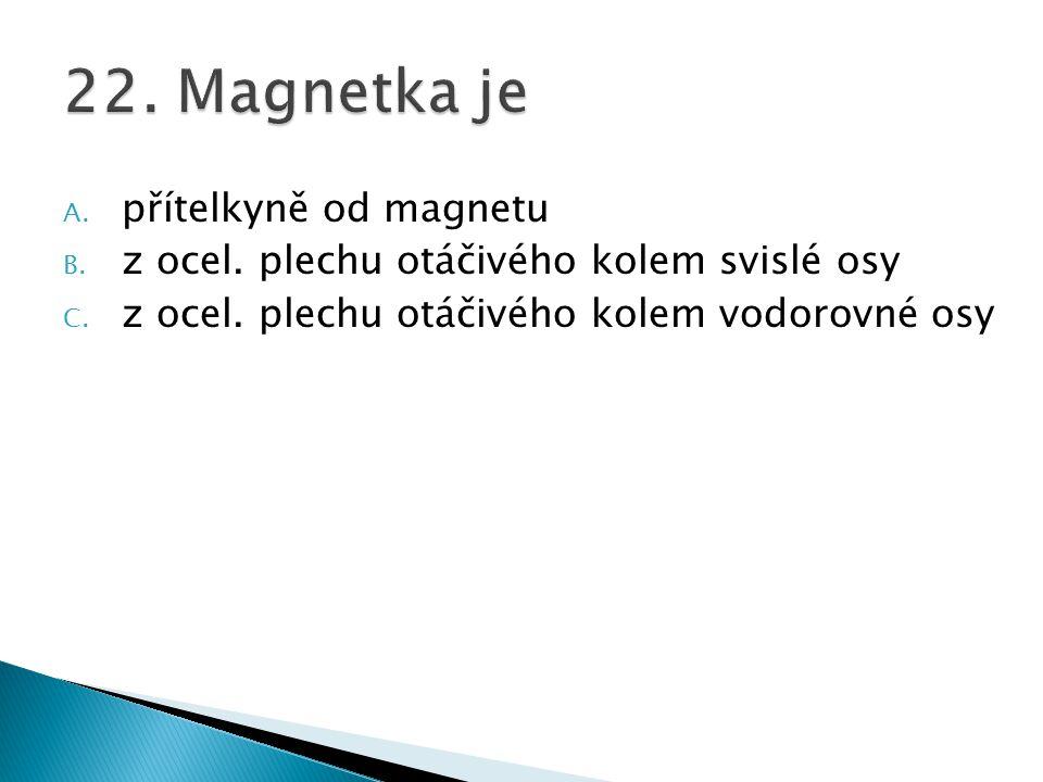 22. Magnetka je přítelkyně od magnetu