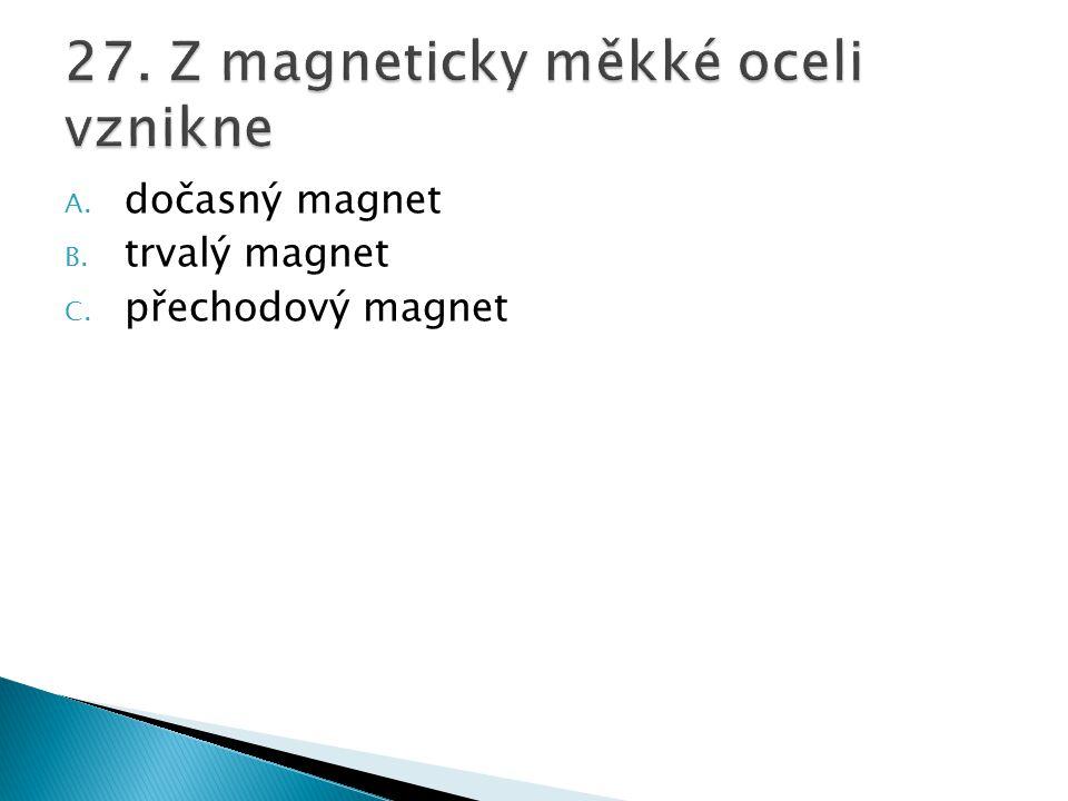 27. Z magneticky měkké oceli vznikne