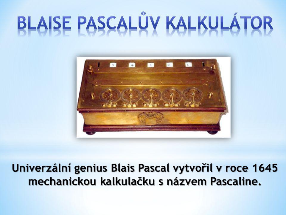 Blaise Pascalův kalkulátor
