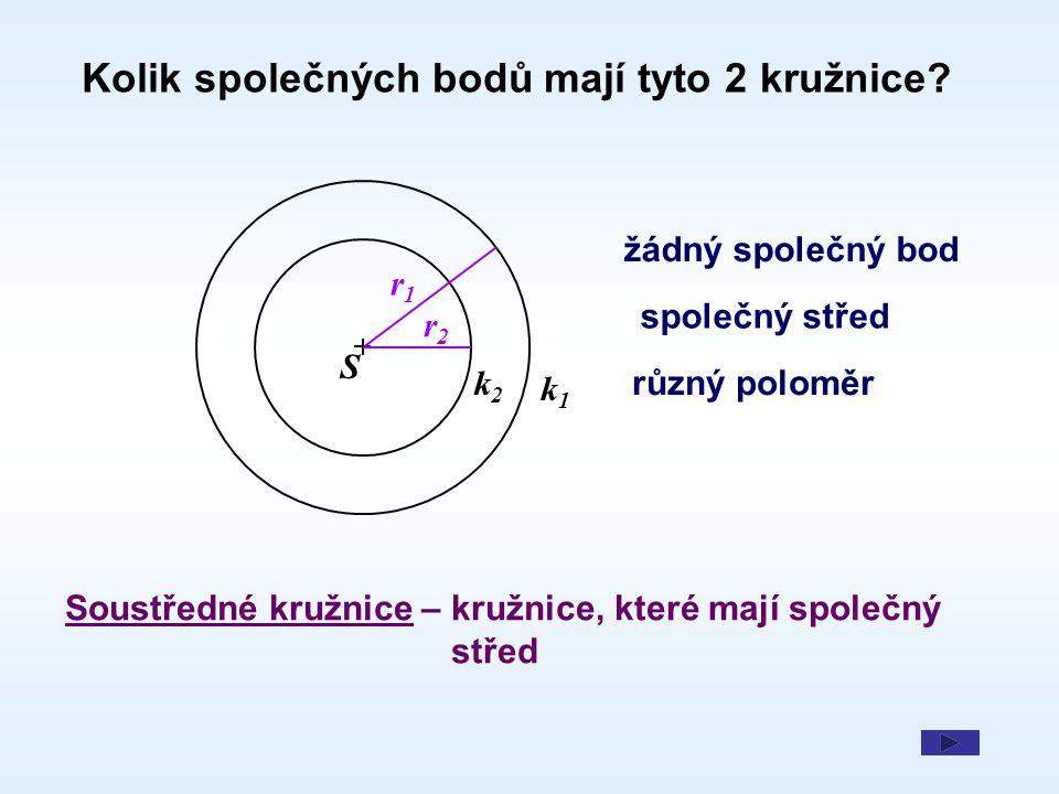 Kolik společných bodů mají tyto 2 kružnice