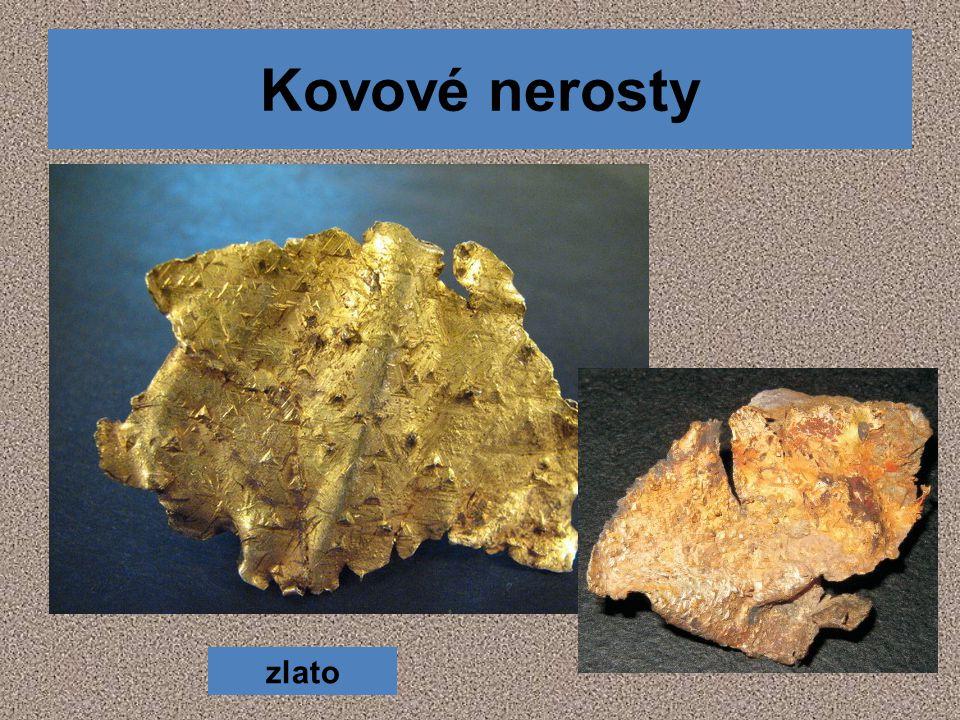 Kovové nerosty zlato