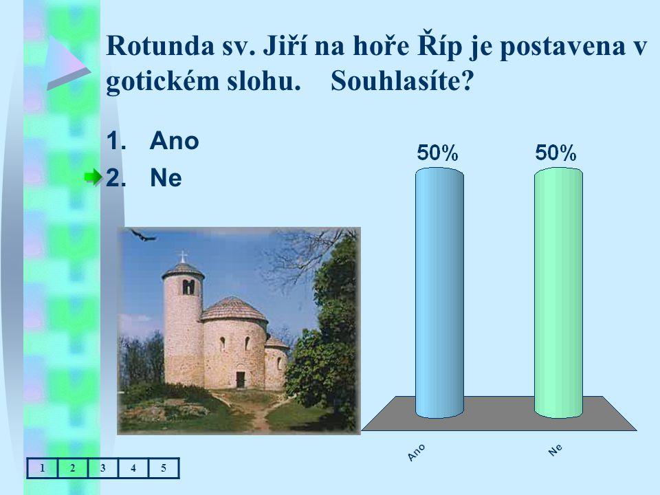 Rotunda sv. Jiří na hoře Říp je postavena v gotickém slohu. Souhlasíte