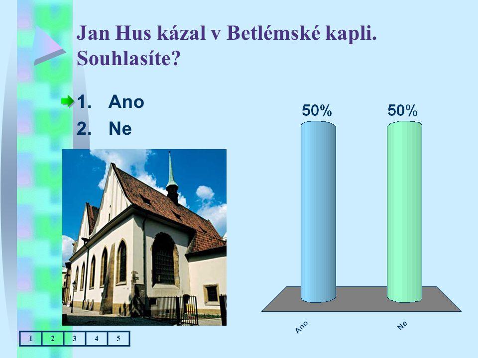 Jan Hus kázal v Betlémské kapli. Souhlasíte