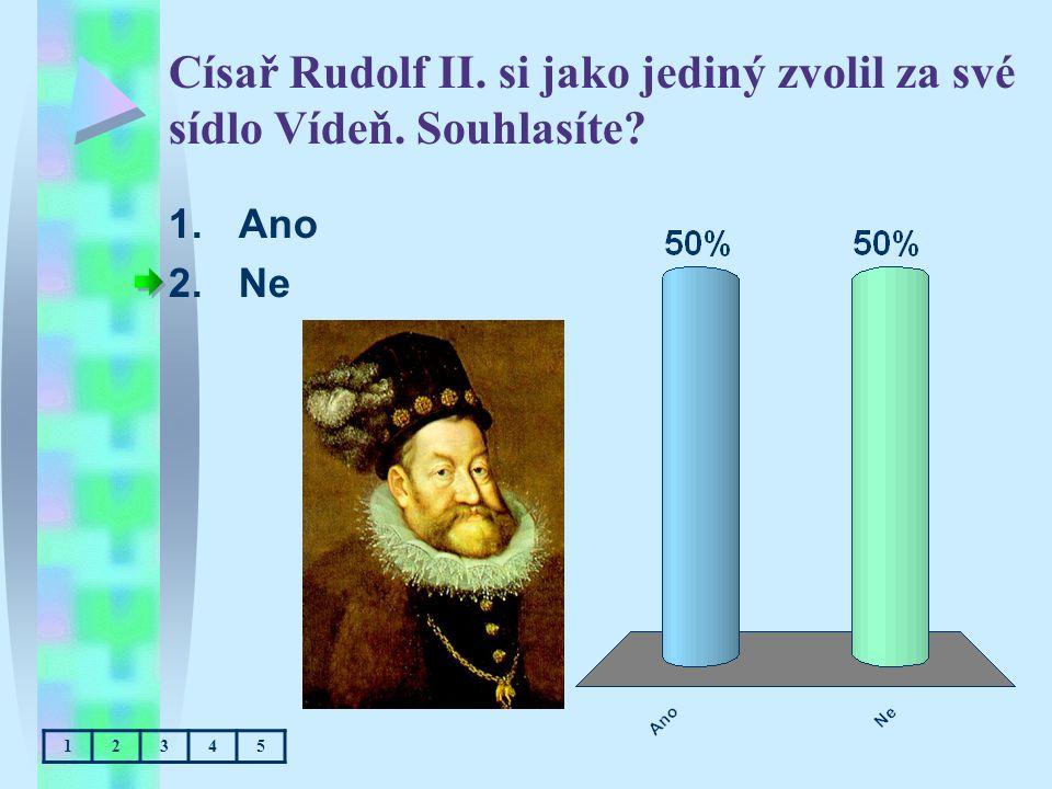 Císař Rudolf II. si jako jediný zvolil za své sídlo Vídeň. Souhlasíte