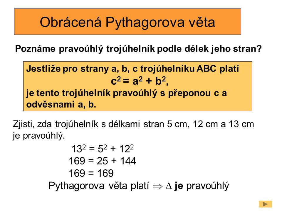 Obrácená Pythagorova věta
