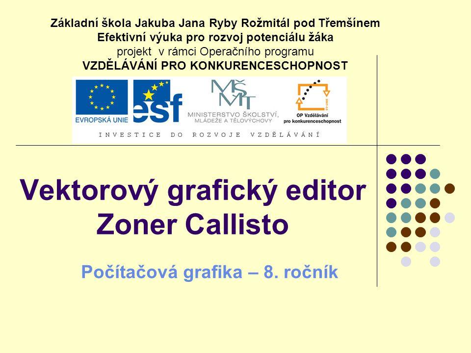 Vektorový grafický editor Zoner Callisto