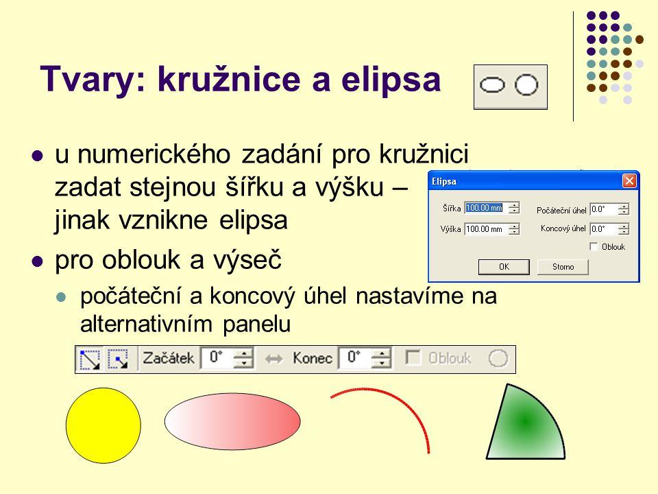Tvary: kružnice a elipsa