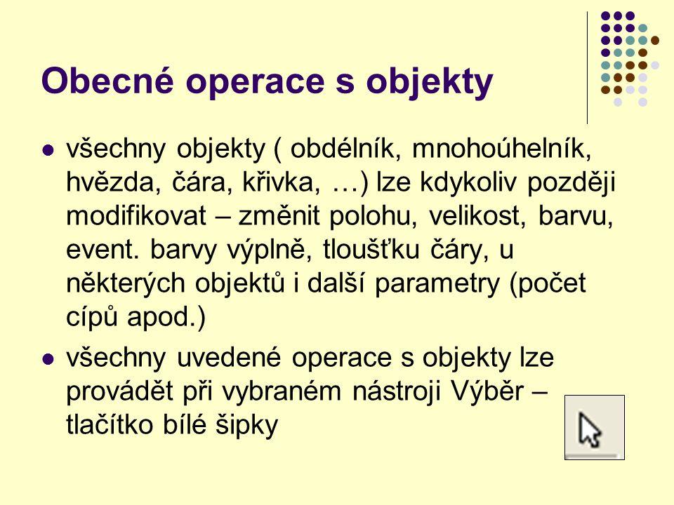 Obecné operace s objekty