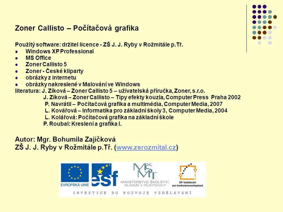 Zoner Callisto – Počítačová grafika
