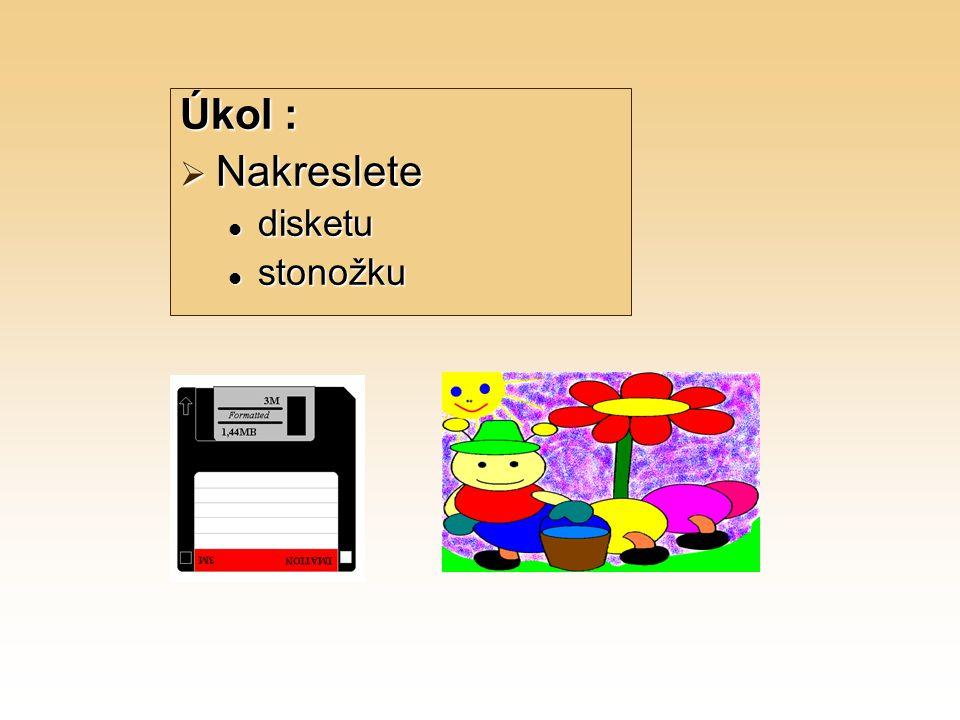 Úkol : Nakreslete disketu stonožku
