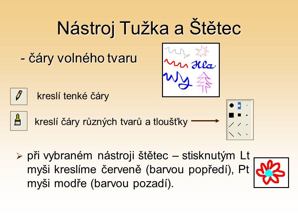 Nástroj Tužka a Štětec - čáry volného tvaru