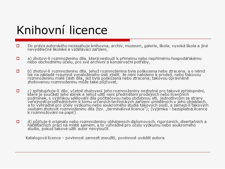 Knihovní licence
