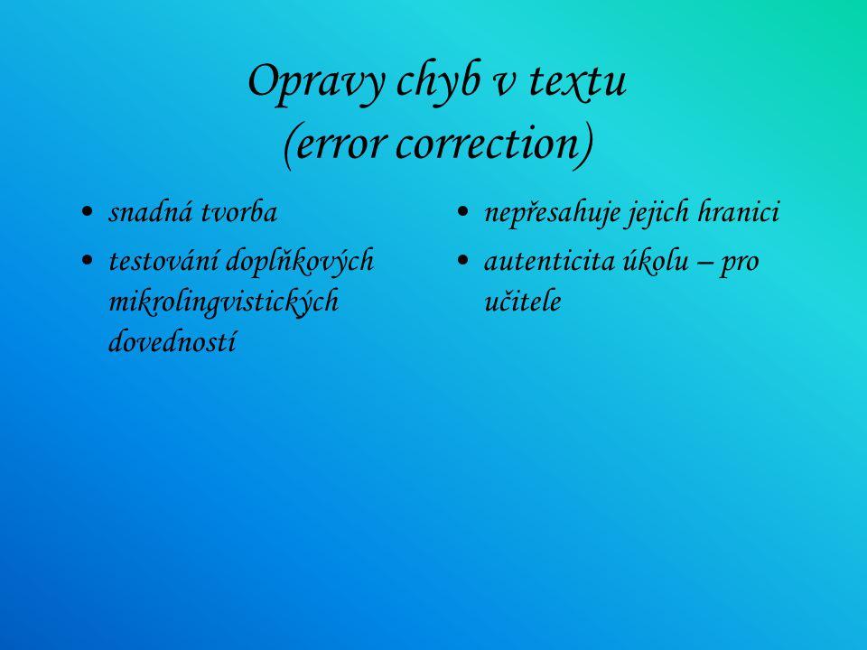 Opravy chyb v textu (error correction)