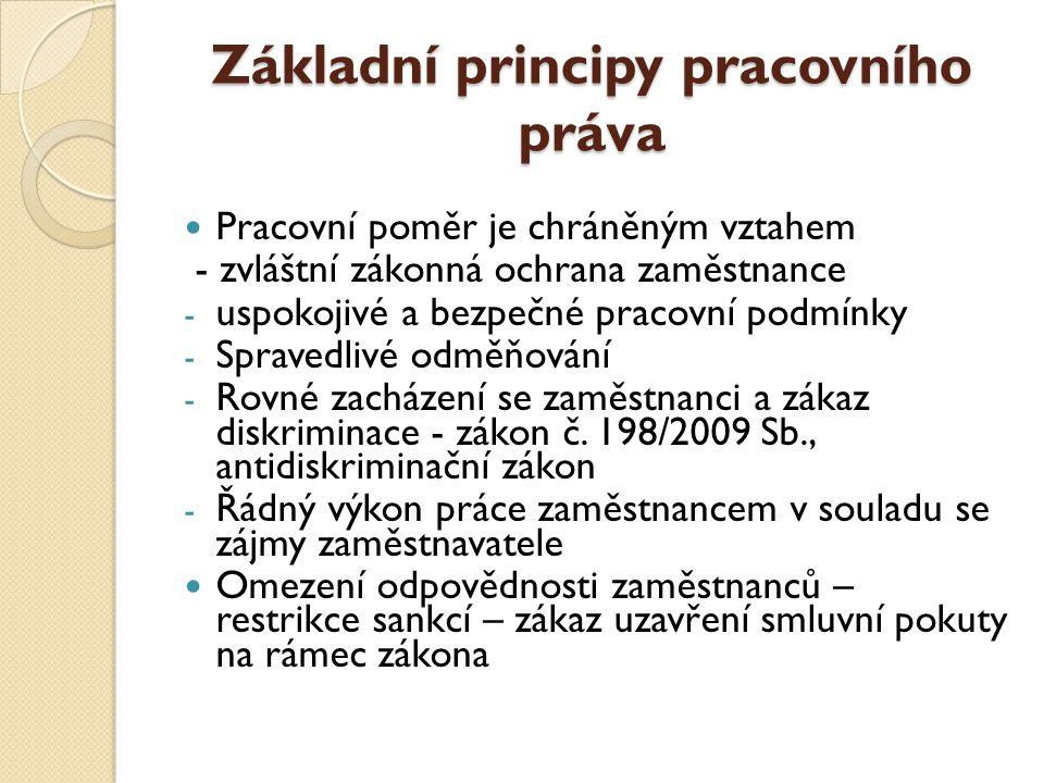 Základní principy pracovního práva
