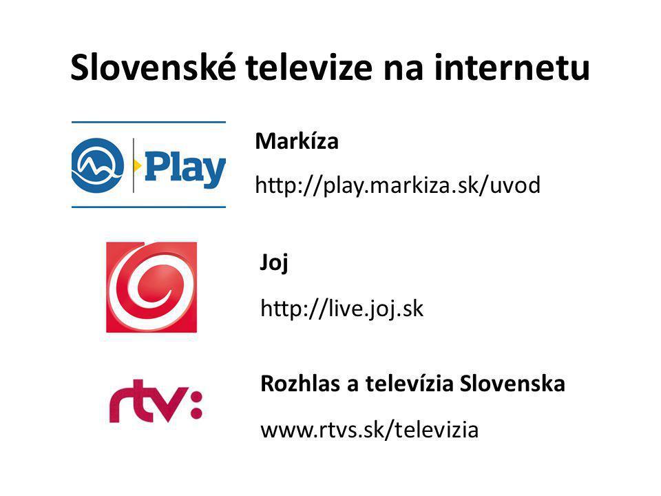 Slovenské televize na internetu