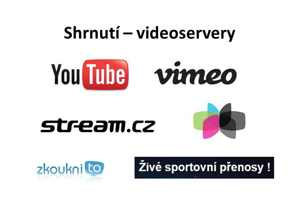 Shrnutí – videoservery
