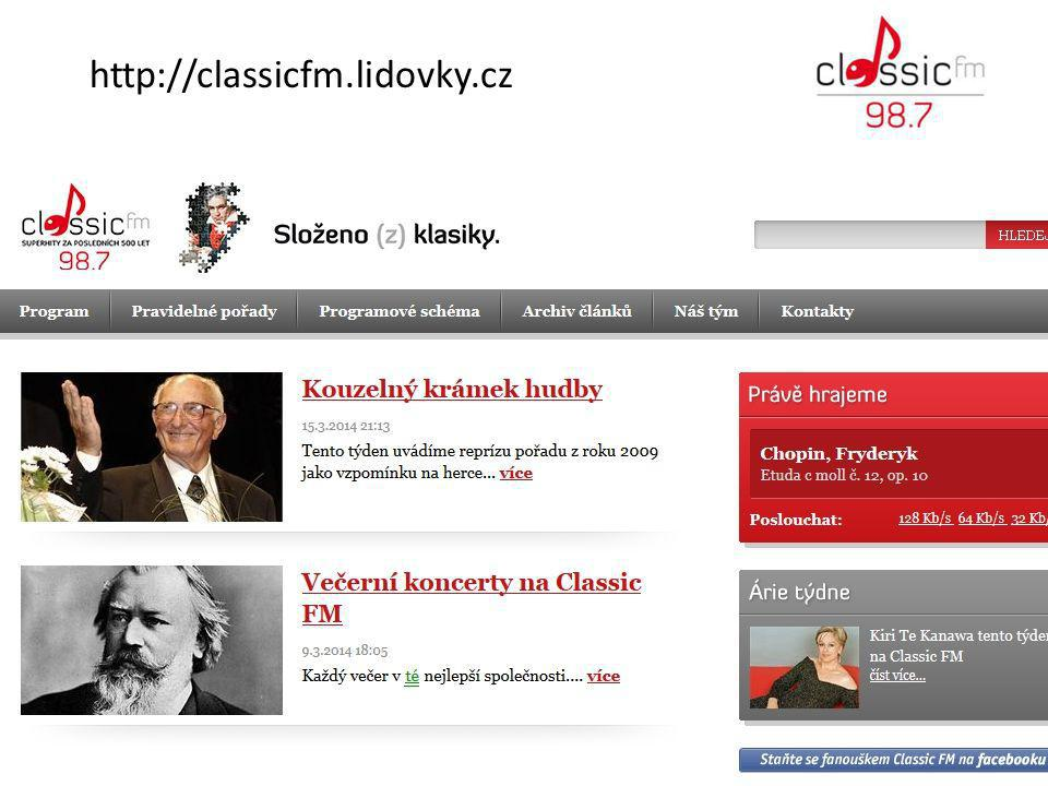 http://classicfm.lidovky.cz