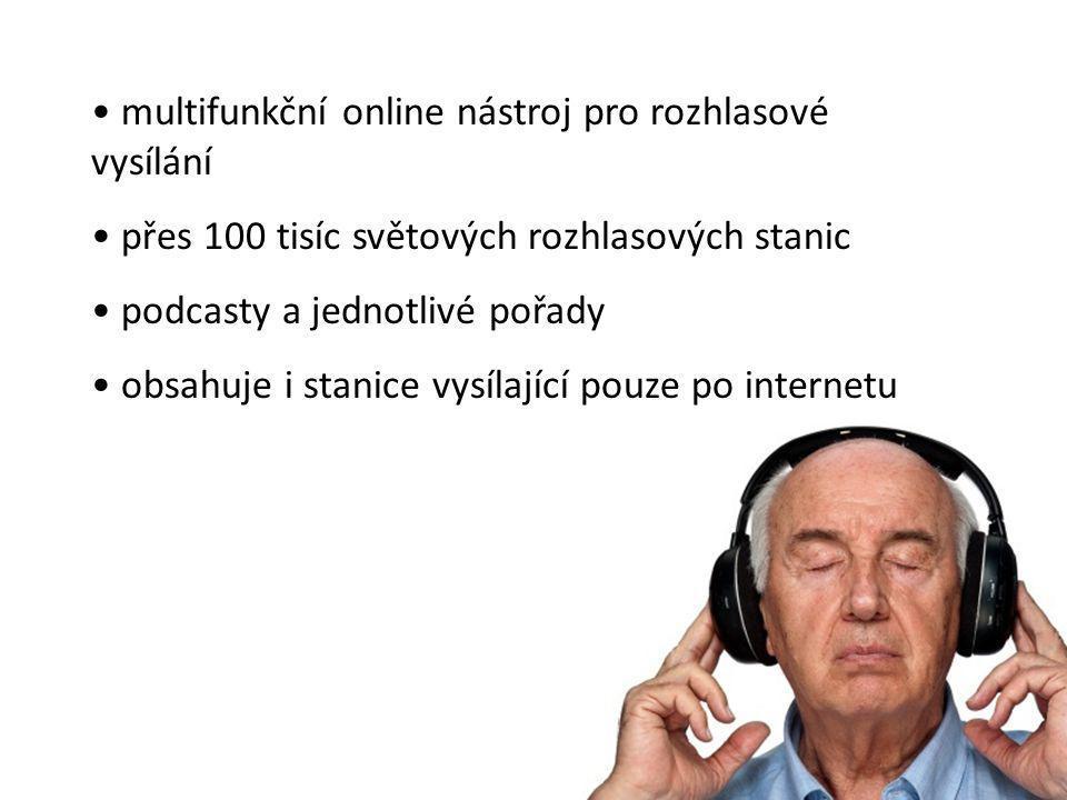 multifunkční online nástroj pro rozhlasové vysílání