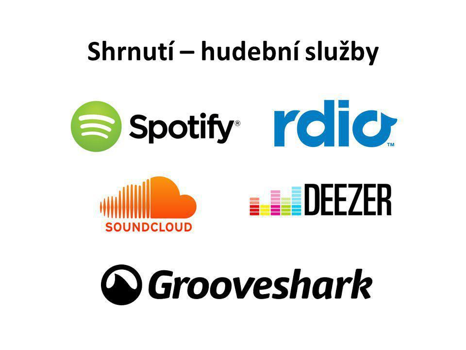 Shrnutí – hudební služby