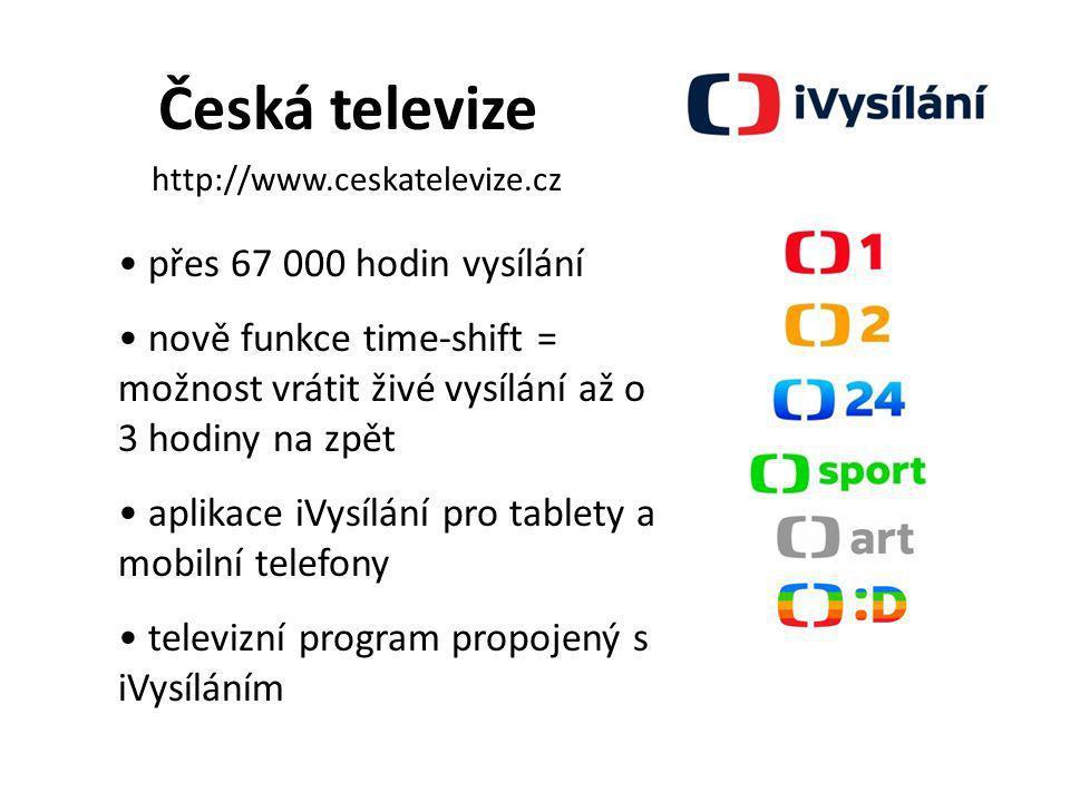 Česká televize přes 67 000 hodin vysílání