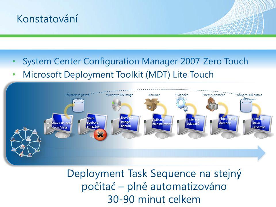 Deployment Task Sequence na stejný počítač – plně automatizováno