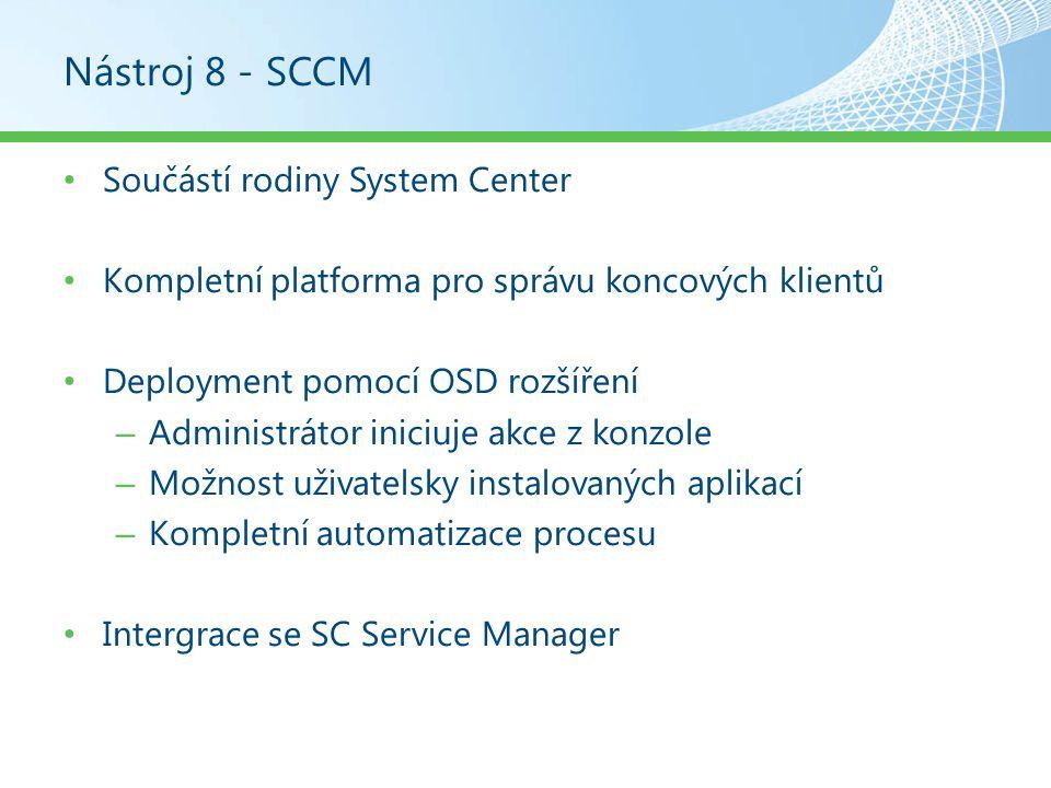 Nástroj 8 - SCCM Součástí rodiny System Center