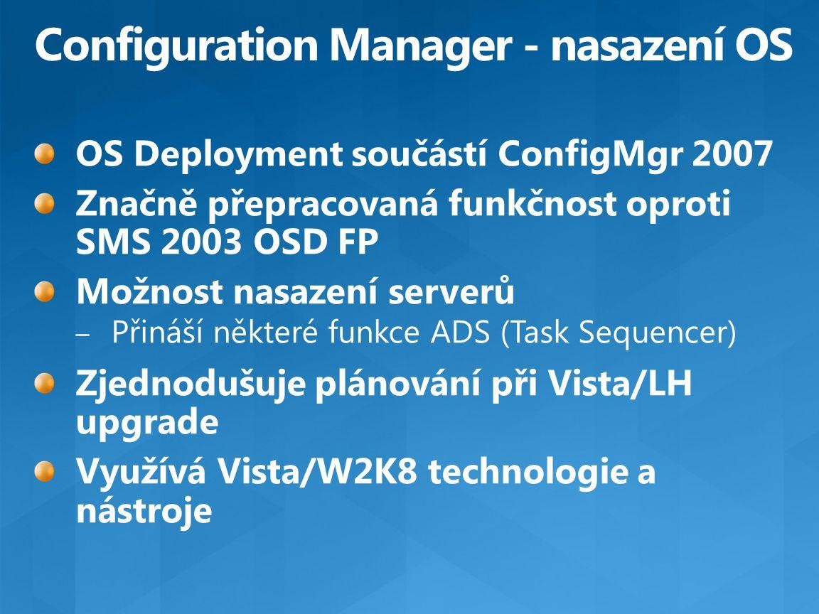 Configuration Manager - nasazení OS
