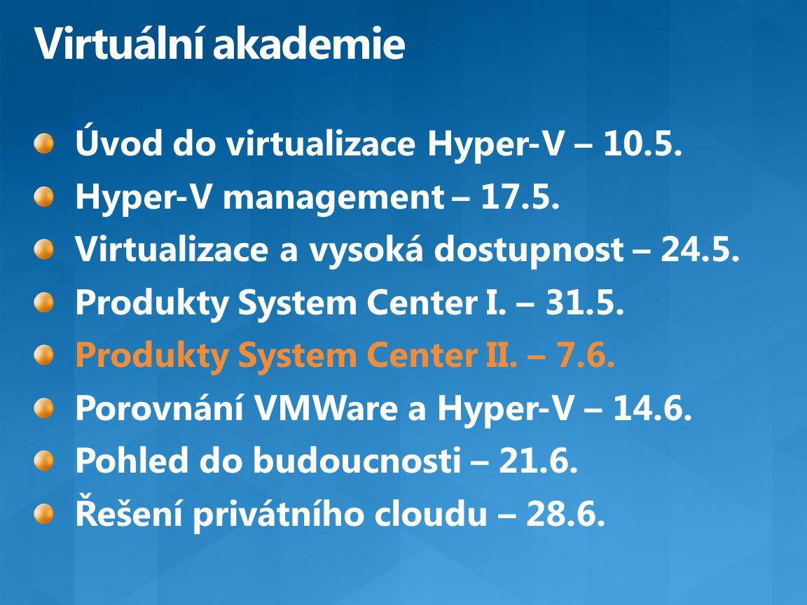 Virtuální akademie Úvod do virtualizace Hyper-V – 10.5.
