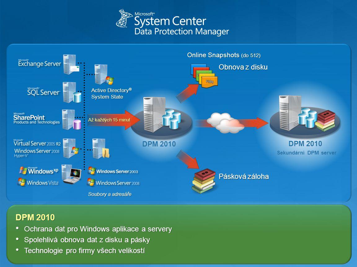 DPM 2010 Ochrana dat pro Windows aplikace a servery