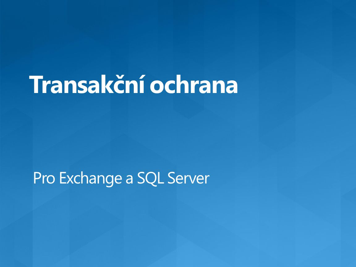Pro Exchange a SQL Server