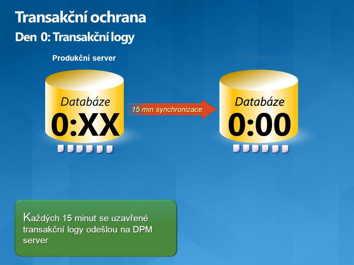 Transakční ochrana Den 0: Transakční logy