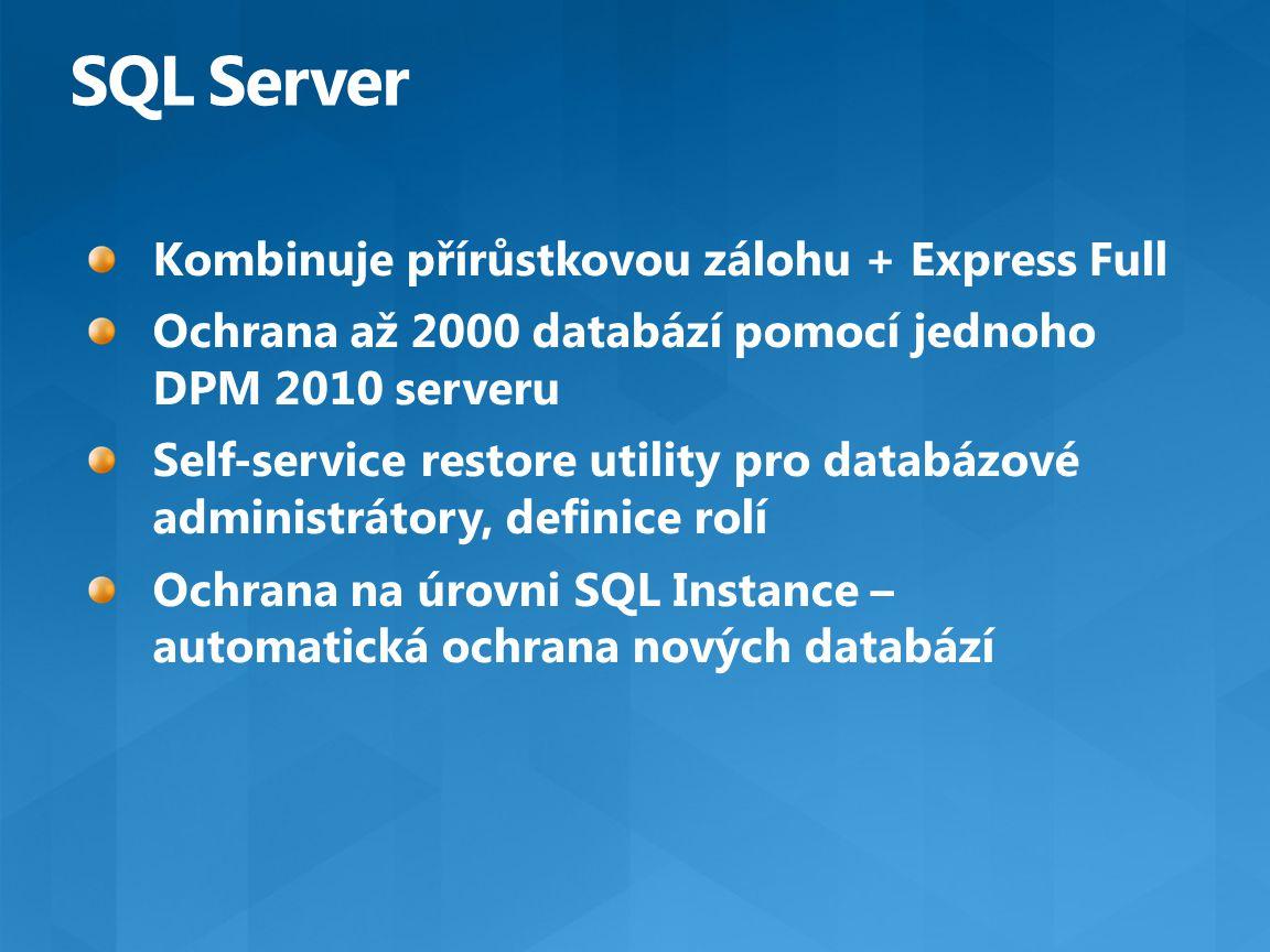 SQL Server Kombinuje přírůstkovou zálohu + Express Full