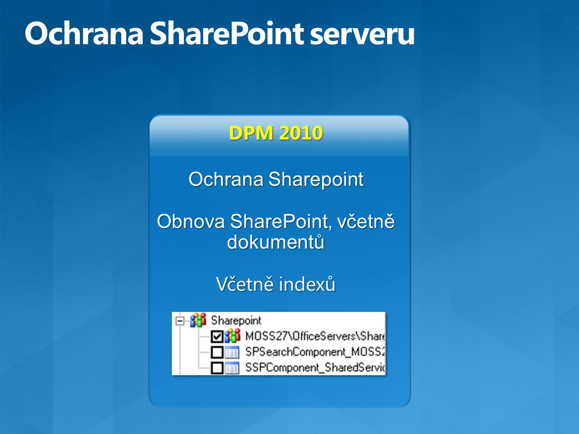 Ochrana SharePoint serveru