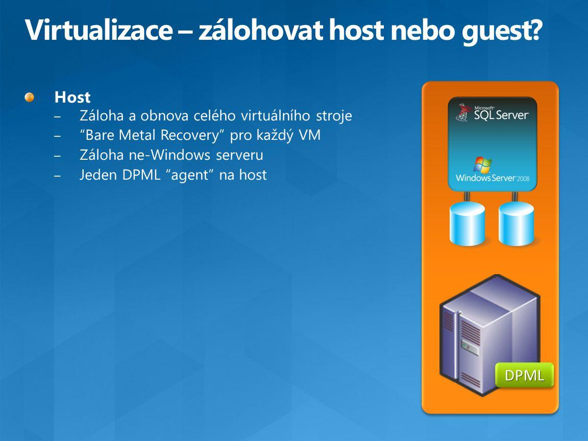 Virtualizace – zálohovat host nebo guest