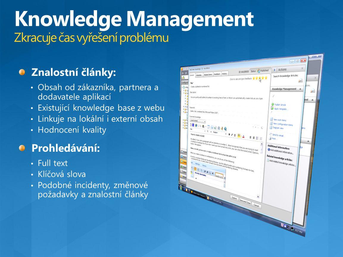 Knowledge Management Zkracuje čas vyřešení problému
