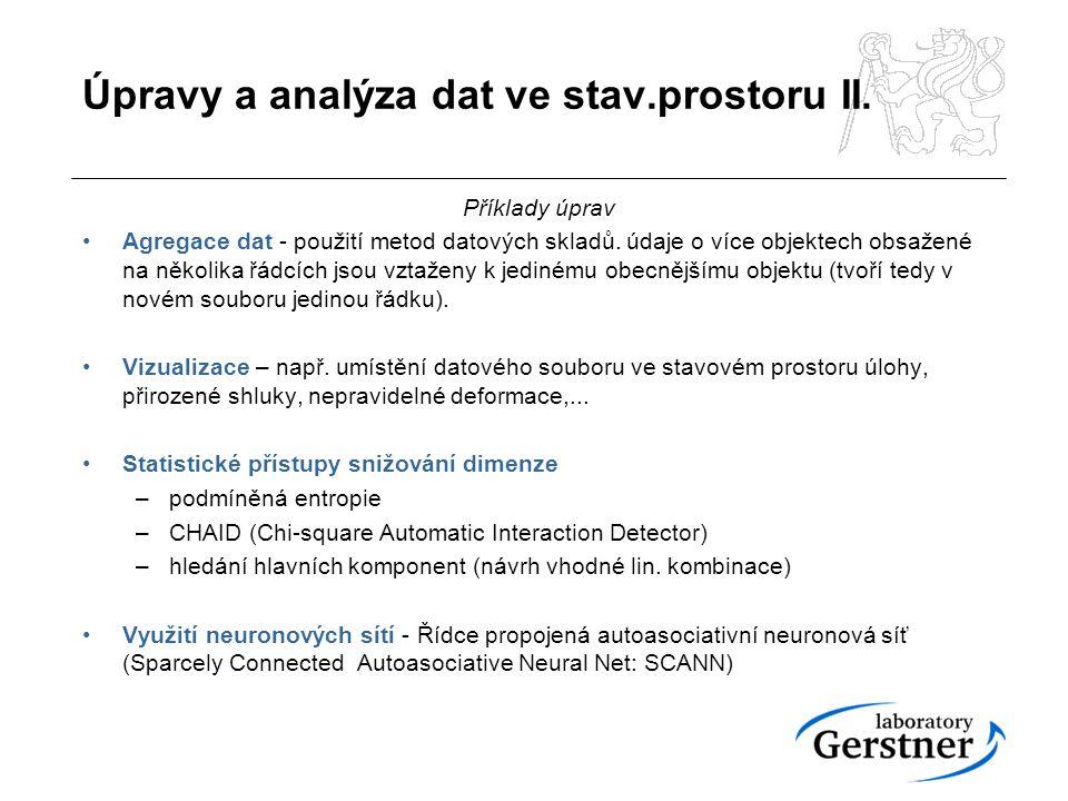 Úpravy a analýza dat ve stav.prostoru II.