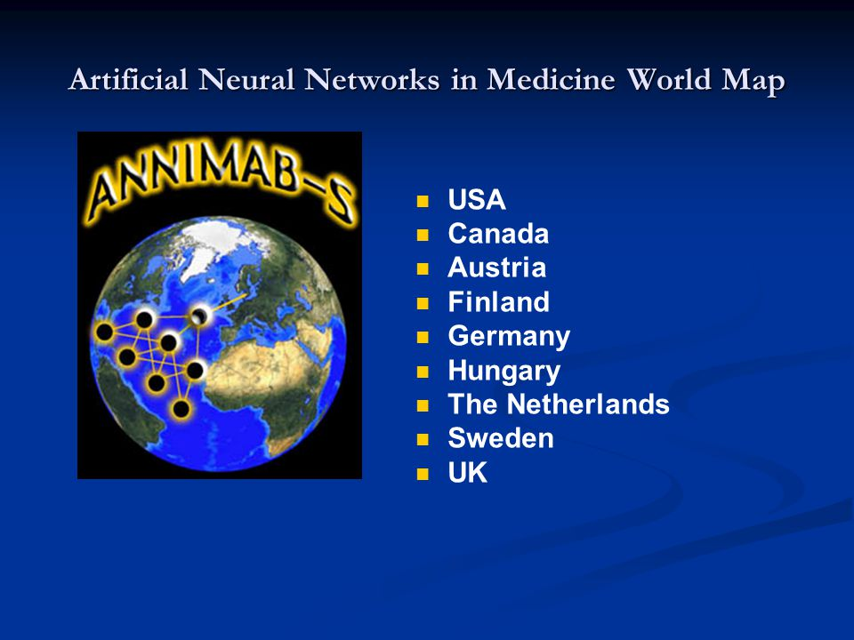 Artificial Neural Networks in Medicine World Map