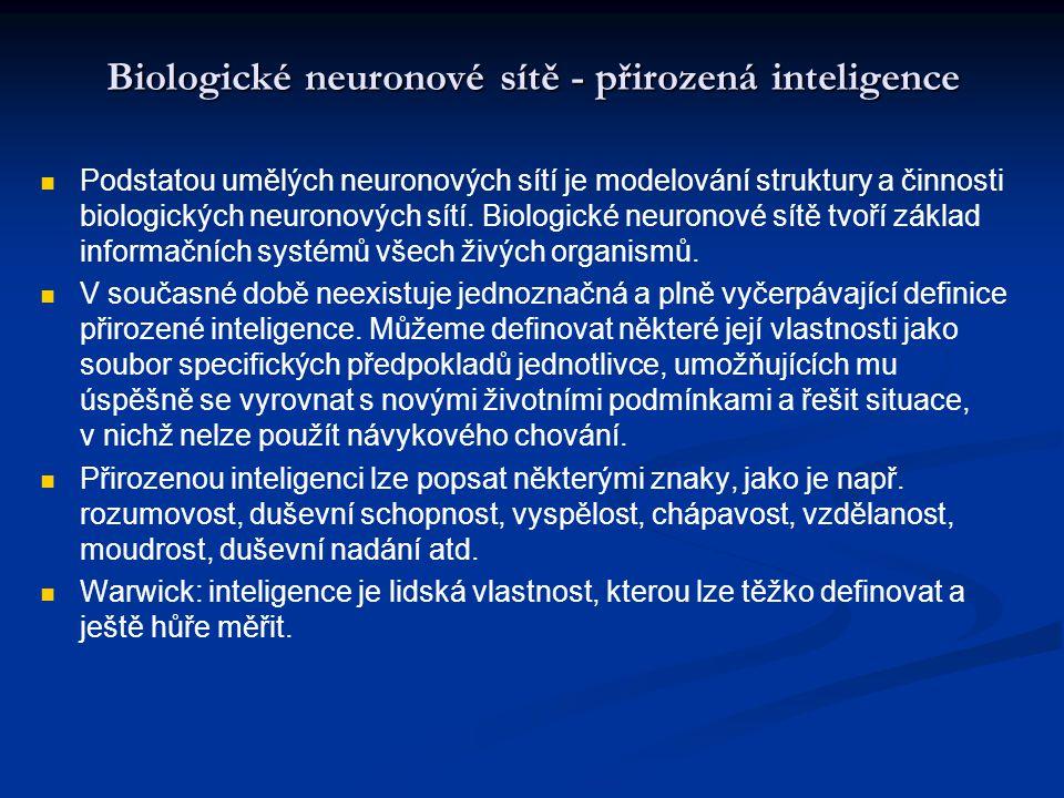 Biologické neuronové sítě - přirozená inteligence