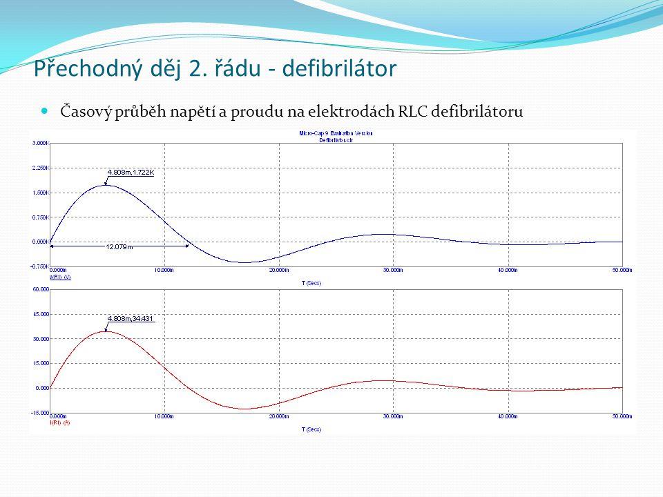 Přechodný děj 2. řádu - defibrilátor