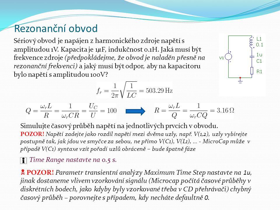 Rezonanční obvod