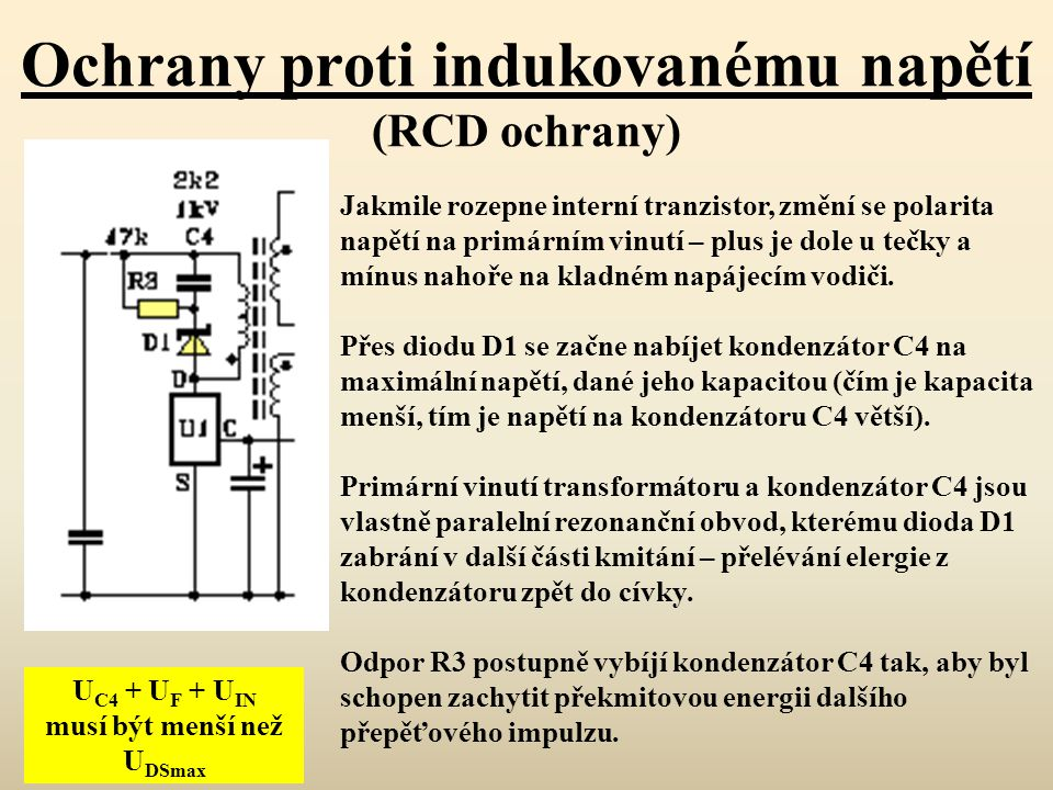 Ochrany proti indukovanému napětí (RCD ochrany)