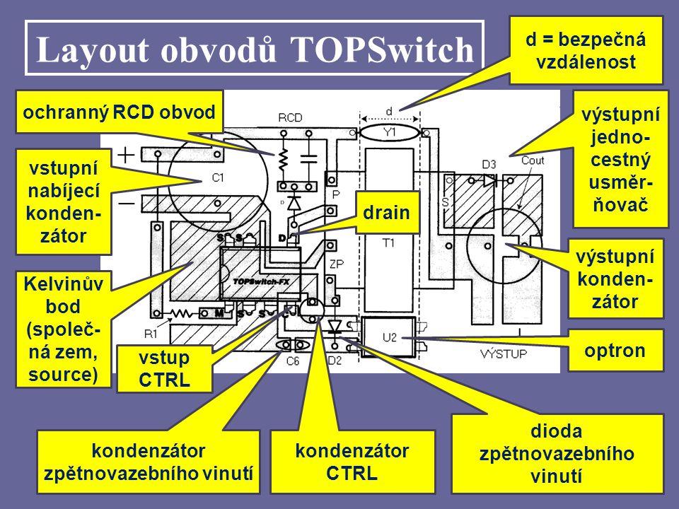Layout obvodů TOPSwitch