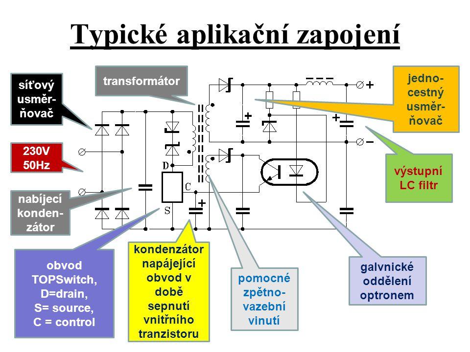 Typické aplikační zapojení