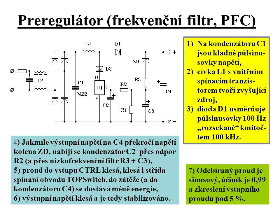 Preregulátor (frekvenční filtr, PFC)